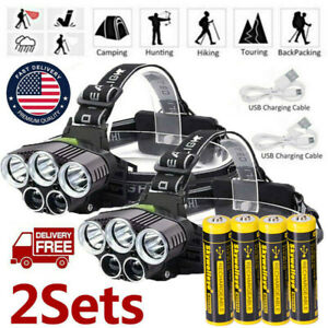 350000LM-5X-T6-LED-Rechargeable-Headlamp-Headlight-Flashlight-18-65-0-Head-Torch