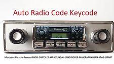 Auto Radio Code Keycode Blaupunkt Becker Porsche Mercedes BMW Renault Ford-ALM&C