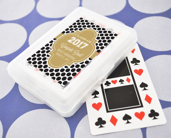 50 Sets Graduation Theme Personalized Playing Cards Party Favors
