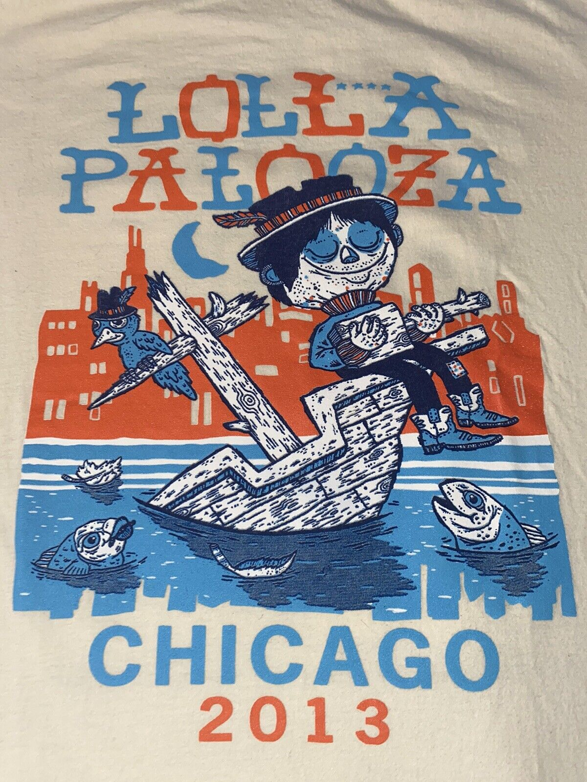 Chicago Lollapalooza Concert Shirt T Shirt 2013 N… - image 1