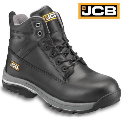 MENS JCB LEATHER WATERPROOF HEAVY DUTY SAFETY WORK BOOTS STEEL TOE CAP SHOES SZ