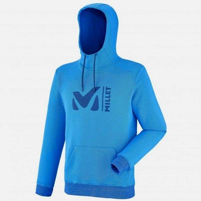 Millet Sweat Hoodie Män, Hoodie for Män, Electric blå, S