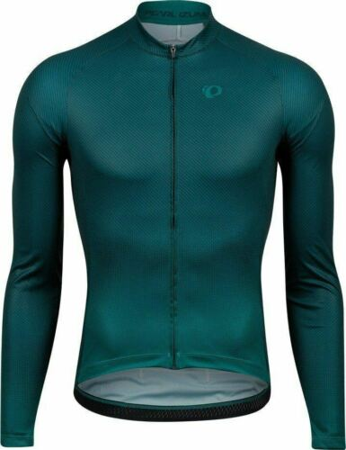 PEARL iZUMi UOMO BICICLETTA CICLO ATTACCO Jersey Maniche Lunghe Verde Pino//Alpine