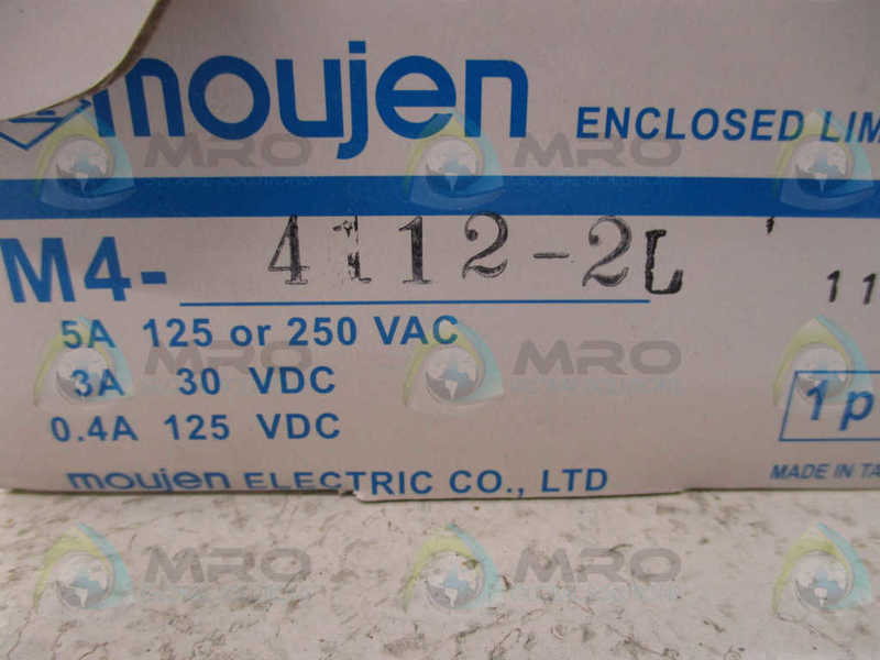 MOUJEN M4-4112-2L ENCLOSED LIMIT SWITCH NEW IN BOX
