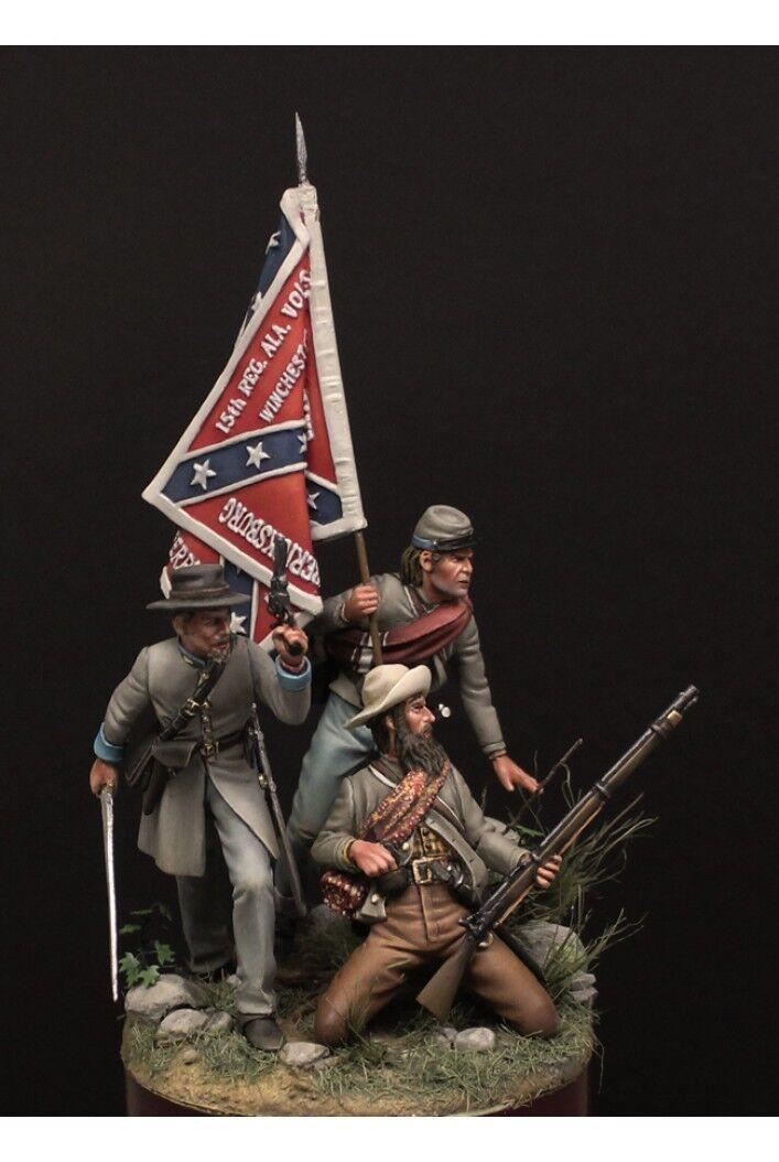 15 e Alabamas frivilliga vid slaget vid Gettysburg Tin Målade leksak SoldierKonst