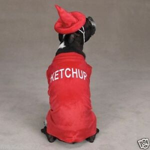 NEW-Casual-Canine-KETCHUP-BOTTLE-Halloween-Dog-Costume-XS-Xsmall