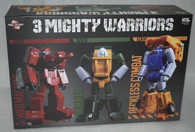 New Transformers Final Victory Toys FV 3 Mighty Warriors Figure Set In Stock