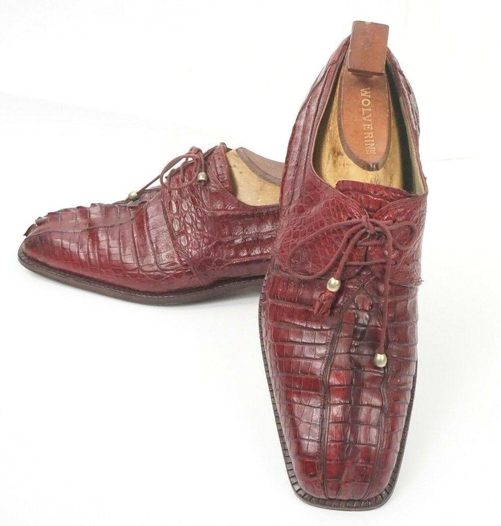 ti renderà soddisfatto  1,100 Mauri  1148 Crocodile Crocodile Crocodile Hornback rosso Derby Dress scarpe US Dimensione 9 M  qualità di prima classe