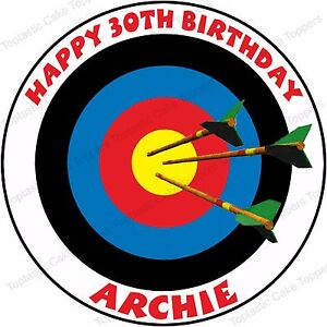 Edible Cake Decorations Target : Personalised Archery Edible Icing Birthday Cake Topper eBay