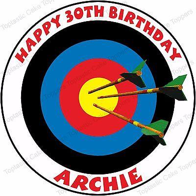 Peachy Personalised Archery Target Shooting Edible Icing Birthday Party Personalised Birthday Cards Beptaeletsinfo