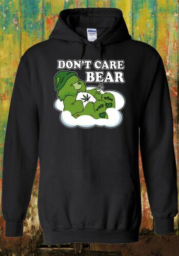 Ne pas Care Bear Marijuana Hommes Femmes Unisexe Top Sweat 2624