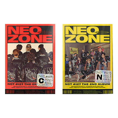 CD+Folding Poster On Pack+Photo Book+Lyrics Book+Post Poster+Photo Card+Circle Card+Sticker NCT 127 Neo Zone Album Preorder N Ver.