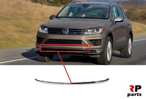 Pour VW Touareg 2014-2018 Nouveau Pare-chocs Avant centre CHROME Molding Trim