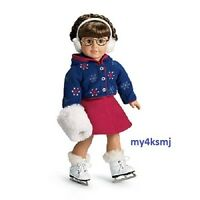 American Girl Molly's Skating Outfit Jacket Skirt Muffs Skates Doll Not Included