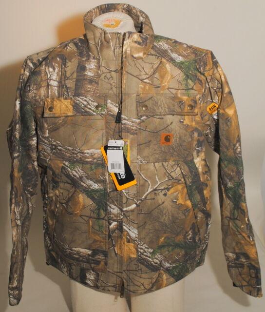 ade2713c4d24a Carhartt Quick Duck Camo Jacket Coat Rain Defender Size LARGE 101444 $149  F3C