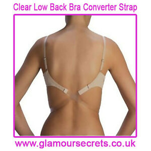 CLEAR Low Back Bra Strap Converter ONE SIZE - FULLY ADJUSTABLE - 1st ... aa54291cc