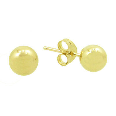 14kt Yellow Gold 4.0mm Shiny Ball Post Earring
