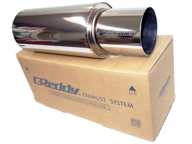 "Greddy Revolution RS Universal Exhaust Muffler (2.5""/63mm) Inlet (4""/103mm) Tip"