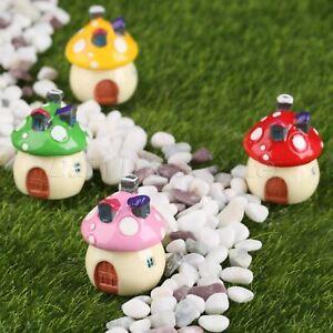 Resin Mushroom House Fairy Garden Terrarium Figurines Diy