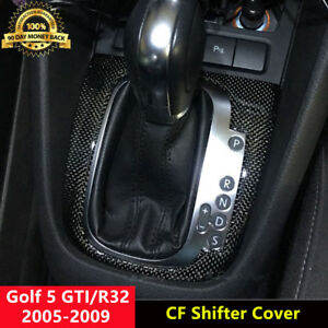 RHD-Carbon-Fiber-Interior-Shifter-Cover-Shift-Trim-for-VW-Golf-5-MK5-GTI-R32