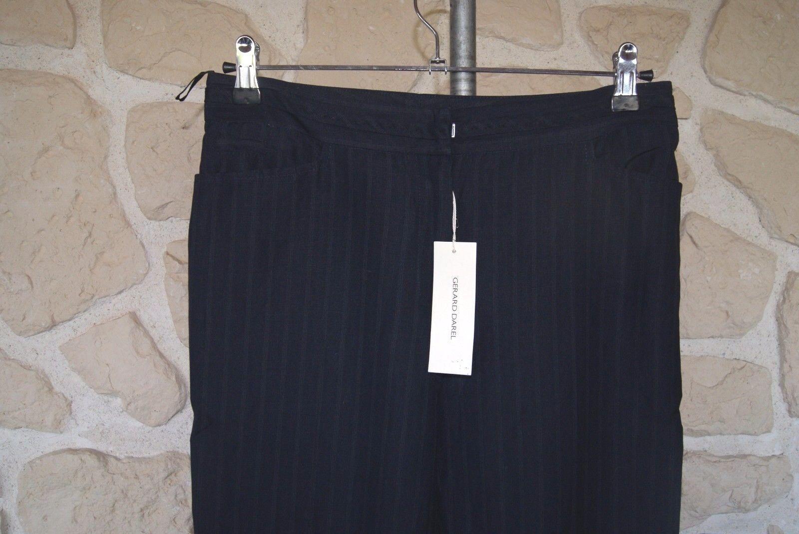 Pantalon blu neuf Dimensione 38 marque Gérard Gérard Gérard Darel avec laine étiqueté à  (v) 89f292
