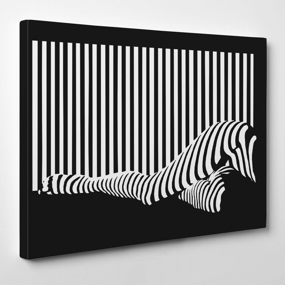 Strichcode legs - gerahmter leinwand Kunstdruck - Schwarz Schwarz Schwarz und Weiß Code lady c224ff