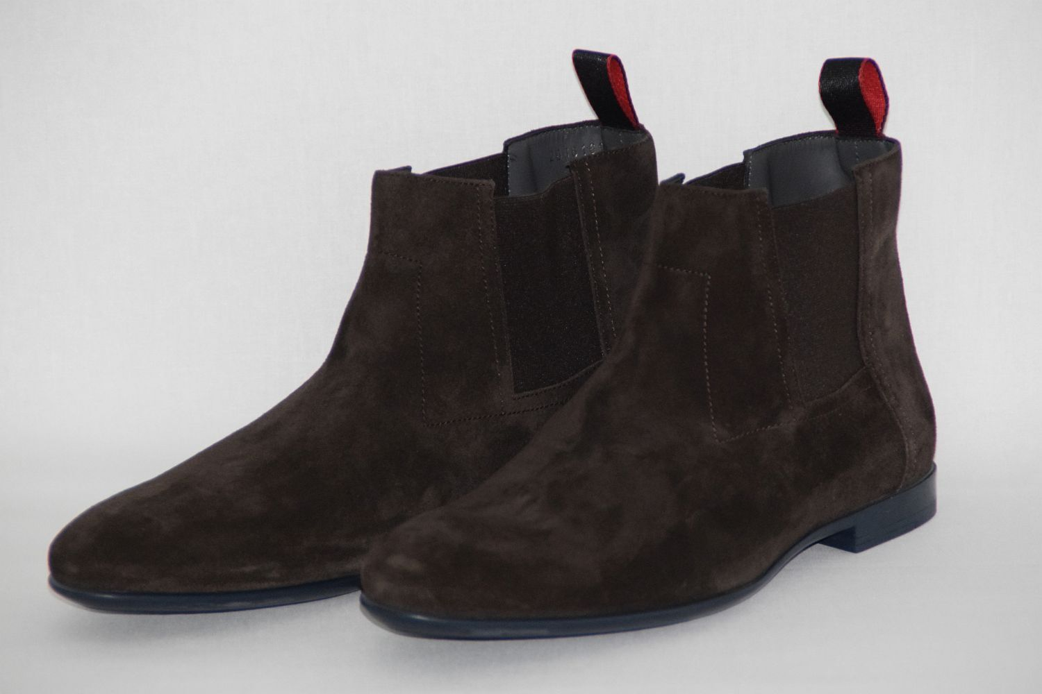 Hugo BOSS boots, Tg. 42//US 9, UVP: , MADE IN ITALY, DARK BROWN