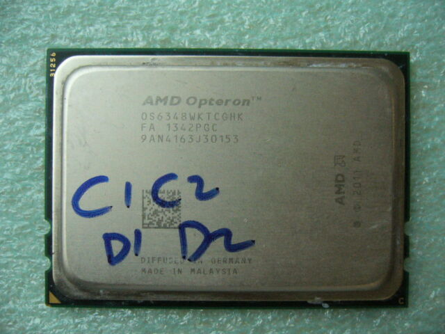 QTY 1x AMD Opteron 6348 2.8GHz Twelve Core OS6348WKTCGHK CPU Tested G34 Damaged