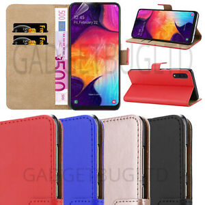 Coque-pour-SAMSUNG-GALAXY-A50-REAL-CUIR-VERITABLE-antichoc-portefeuille-Flip-cover