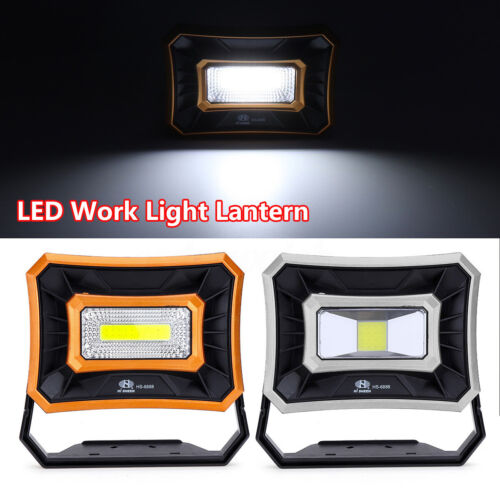 Waterproof 50W LED Light Solar Rechargeable Work Torches USB Charging Lamp