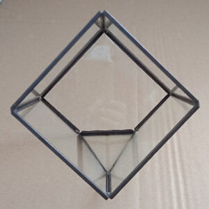 Glass Cube Terrarium Succulent Air Plant Container Wedding Card Box