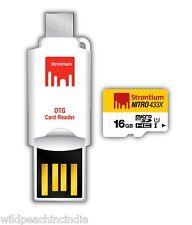 Strontium NITRO UHS-I microSDHC/XC with OTG Card Reader 16GB ( SRN16GTFU1T )