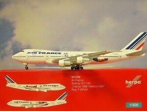 Herpa-Wings-1-500-Boeing-747-100-Air-France-F-Bpvm-531528-Modellairport500
