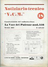 Voce del Padrone Marconiphone Columbia -Notiziario 1941 n°18 Schema Modello 641