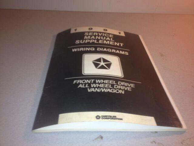 1991 Chrysler Service Manual Supplement Wiring Diagrams