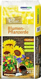 20L BIO Blumenerde Pflanzerde Qualitätserde torffrei GE10301