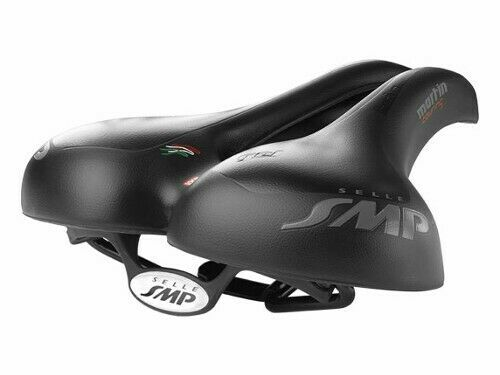 Selle SMP Martin Touring Gel Cycling Saddle Black Wide Split Bike Bicycle Seat