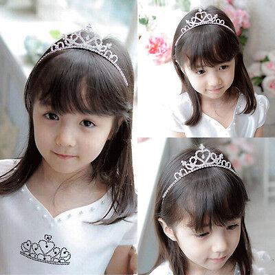 Rhinestone Crystal Tiara Hair Band Kid Girl Bridal Princess Prom Crown Headband