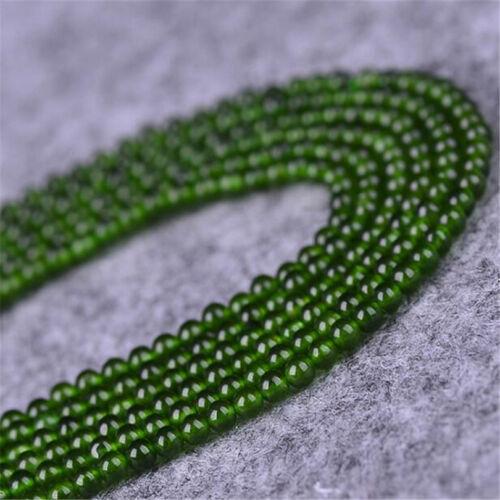 """1 un 4MM Verde Jade Piedra Preciosa suelto bolas 15/"""" Makings Joyería encanto lotes artesanía Hazlo tú mismo"""