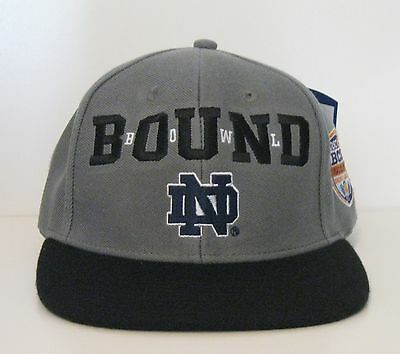 OSFA Adidas Notre Dame Fighting Irish 2013 ADI BCS Bowl Bound SnapBack Hat NWT
