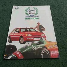 1989 FORD FIESTA XR2i FORMULA ONE NATIONS CUP - UK ENTRY FORM BROCHURE - SP2188