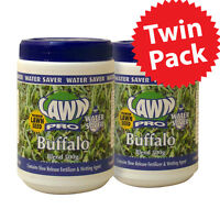 Sale Twin Pack Lawn Pro Buffalo Lawn Seed Water Saver For Your Garden 2x 500gm