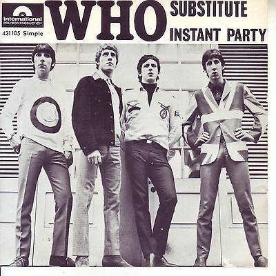 """THE WHO,SUBSTITUTE / INSTANT PARTY 7""""/ 45 FRENCH POLYDOR 421105 VERY RARE"""