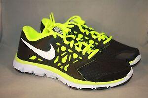737e875b86dc New Grade School Nike Flex Supreme TR 4 black volt athletic running ...
