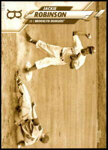 Jackie Robinson 2020 Topps Super Short Print Variations 5x7 Gold #416 /10 Dodger
