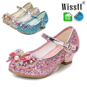 New Kids Girls Princess Sandals Wedding Shoes High Heels Dress Shoes Party Shoes