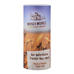 (GP 15,33€/Kg) Haferflocken Früchte Nuss Bio Müsli mit Amaranth Vegan 450g