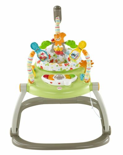 New Free Shipping Fisher-Price Woodland Friends Space Saver Jumperoo