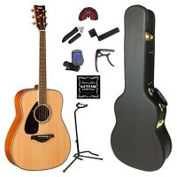 Yamaha Fg820 Left Handed Acoustic Guitar Gold Pack on sale