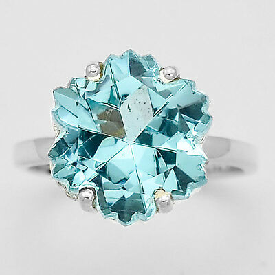 Simulated Aquamarine 925 Sterling Silver Ring Jewelry Size 6-9 DGR1091/_A